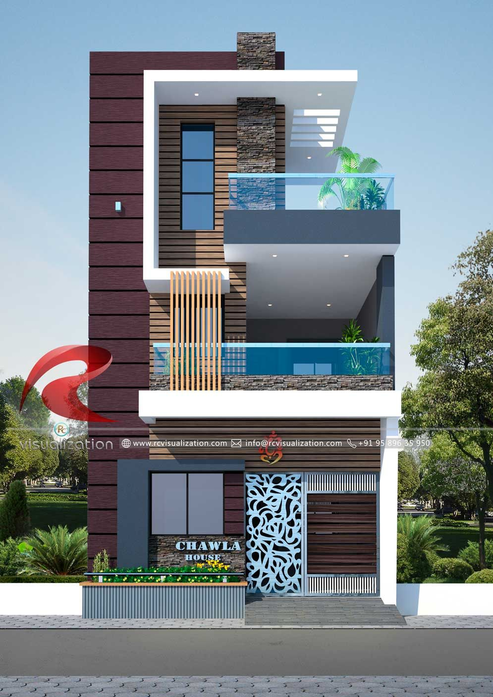 Small House Elevation Design Duplex House Design Latest House Designs: RC Visualization Structural Plan And Elevation Designin