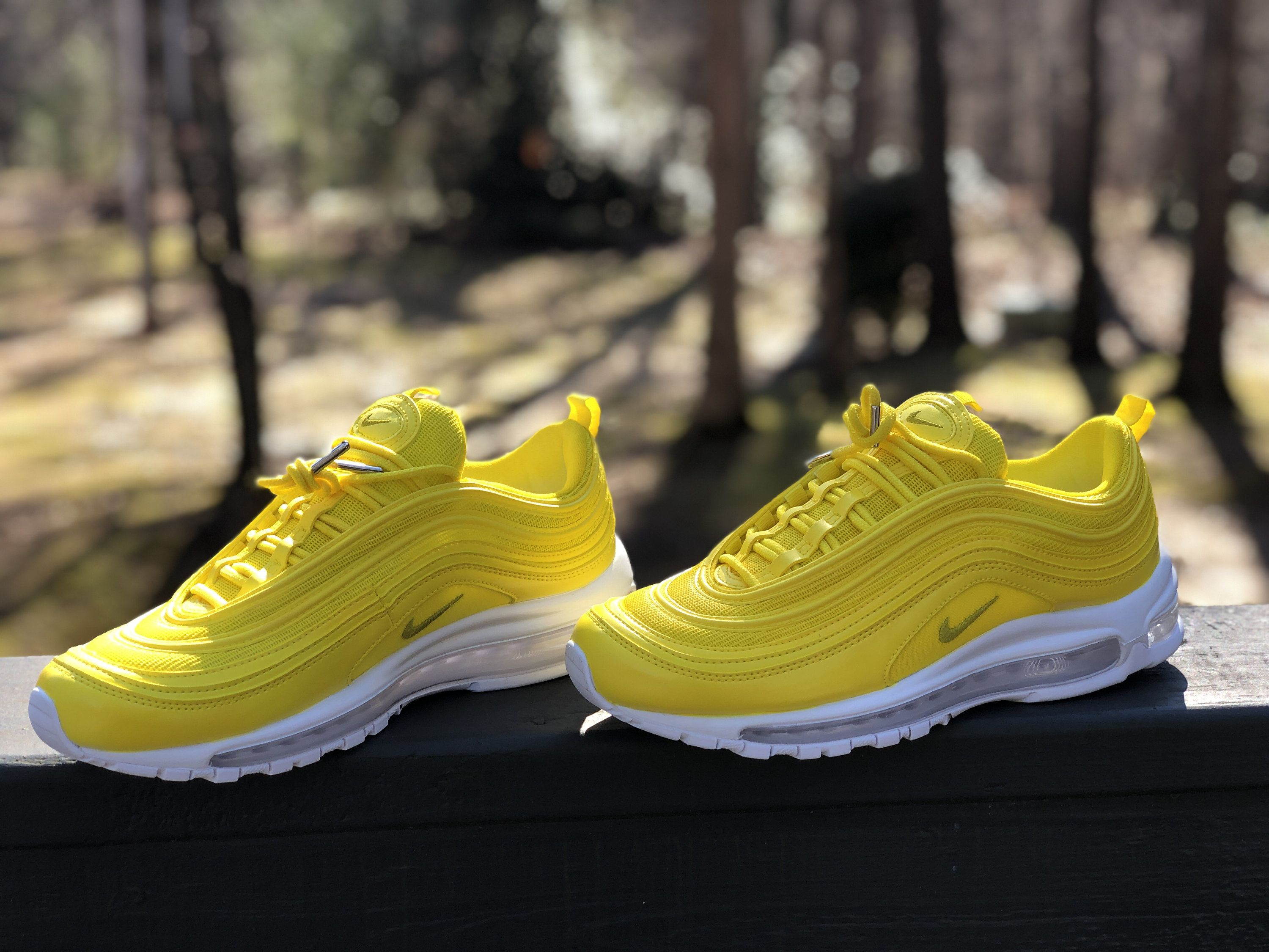 more photos offer discounts best price Lemon Yellow Nike Air Max 97 Custom (PLEASE READ) in 2019 ...