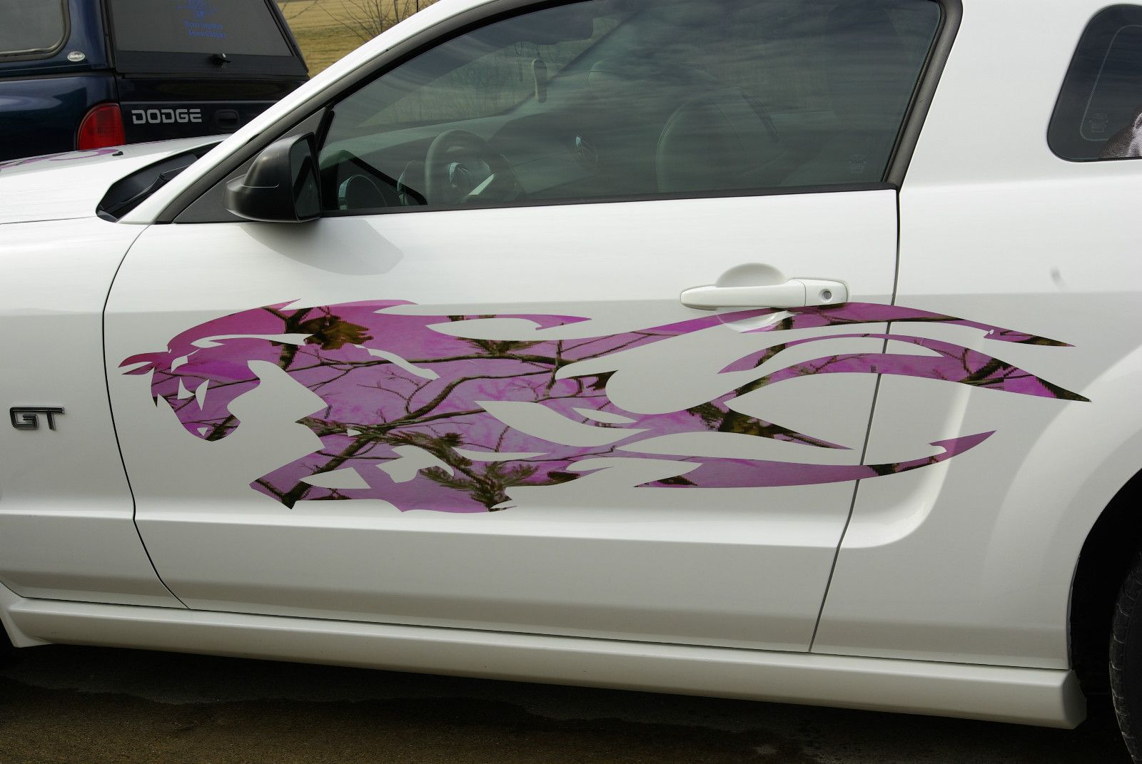 Side Decals For Cars Tribal Mustang Pony FULL COLOR Side - Camo custom vinyl decals for trucks