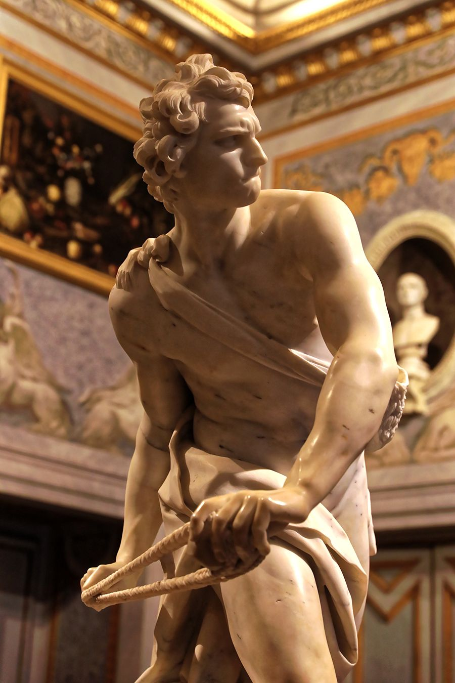 Bernini, David, 1623–24. Courtesy: Wikimedia Commons #greekstatue