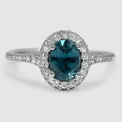Platinum Circa Diamond Ring 1 2 Ct Tw Set With 8x6mm Teal Oval Sapph Oval Sapphire Engagement Ring Gemstone Engagement Rings