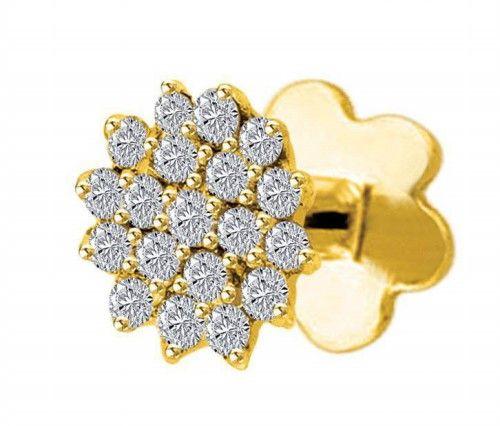 Diamond Nose Pin Price 0 30 Ct Natural Round Certified Diamond