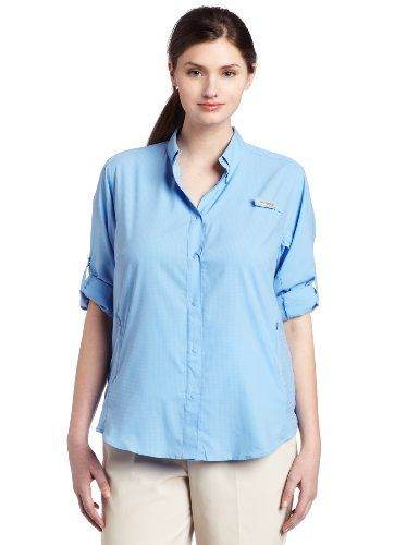 Columbia Womens Tamiami II Long Sleeve Shirt Plus White Cap 1X * Read more  at the image link.
