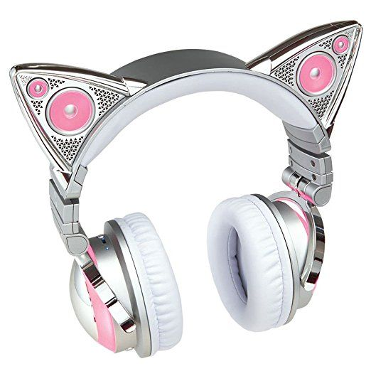 Amazon.com: Limited Edition Ariana Grande Wireless Bluetooth Cat Ear Headphones: Electronics