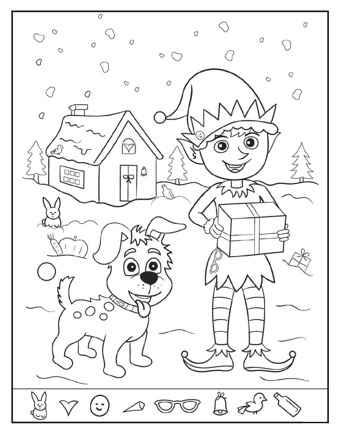 Easy And Hard Hidden Pictures Worksheet Pintable In