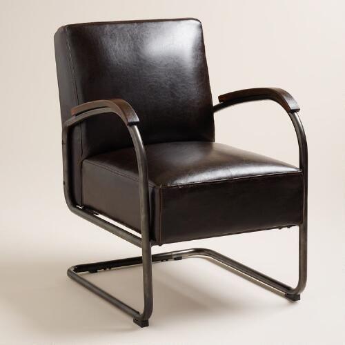 Bi Cast Leather Rhett Cantilever Chair Living Room