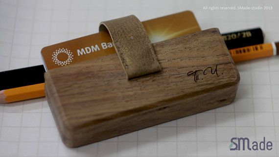 Wood Business Card Holder and Credit Card Case by SMadeshop