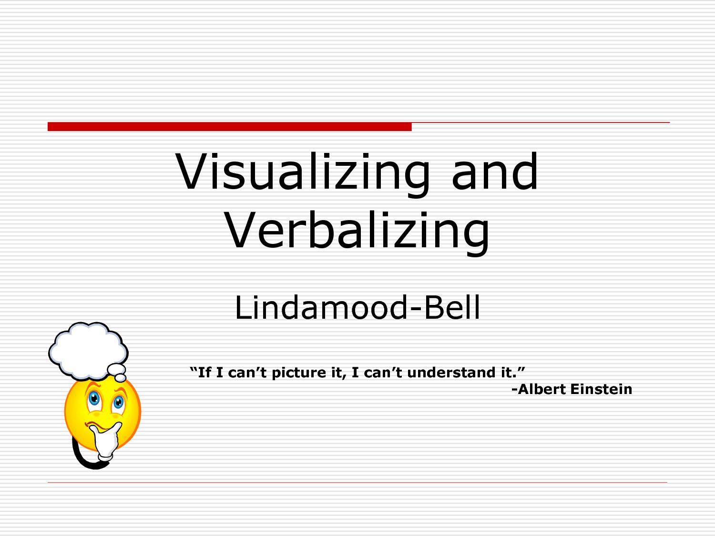Visualizing and Verbalizing - at home