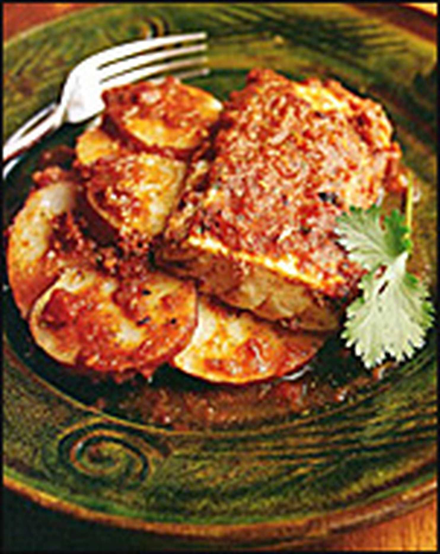 Jalapeno baked fish with roasted tomatoes and potatoes recipe fish potatoes and a lively sauce combine for a hearty and fast dinner forumfinder Gallery