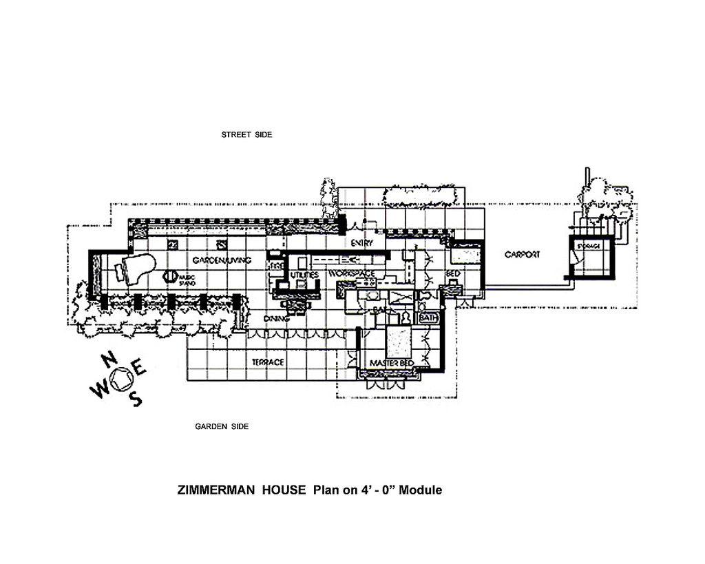 333 20 zimmerman house modular floor plan art of architecture studio floor plans frank. Black Bedroom Furniture Sets. Home Design Ideas