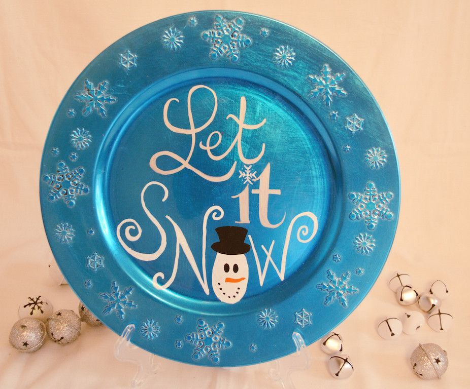 Let It Snow Christmas Decorative Plate  sc 1 st  Pinterest & Let It Snow Christmas Decorative Plate | Tis the season | Pinterest ...