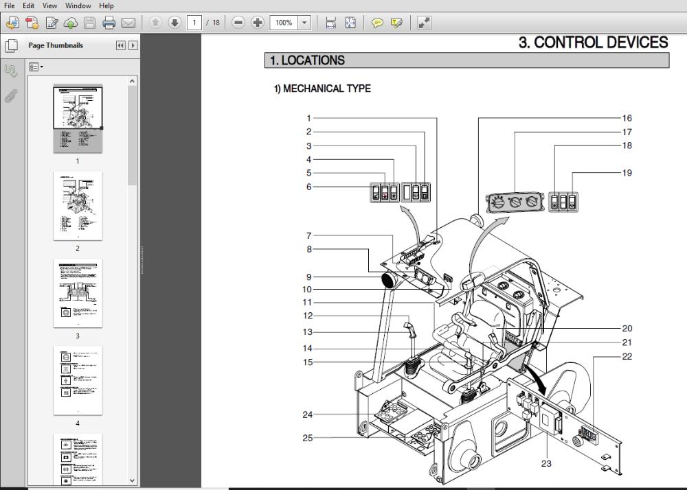 Hyundai Skid Steer Loader Hsl650 7a Operator Manual Pdf Download Skid Steer Loader Hyundai Manual
