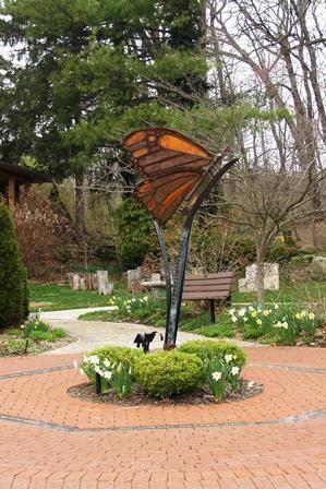 Butterfly Sculpture At The Canton Garden Center Garden