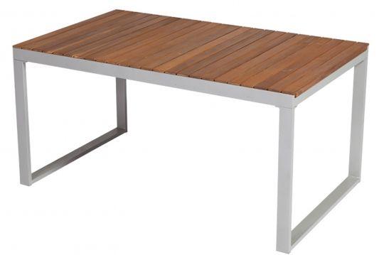 Tisch Naxos Aus Aluminium Und Akazie Von Merxx Ausziehbar Ca