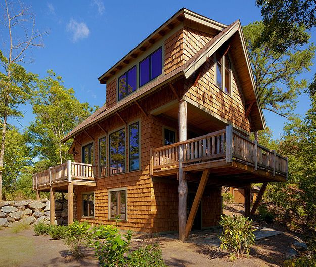 Vacation Log Cabin Rental On Lake James Near Asheville