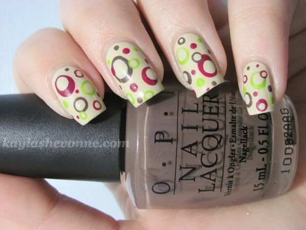 Tutorial Retro Polka Dots Nails Nail Art Pinterest Kynnet