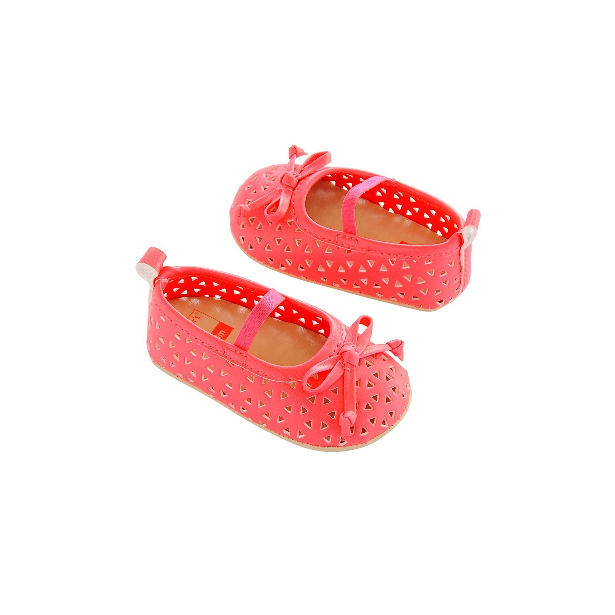 Baby Girl Carter s Perforated Mary Jane Crib Shoes Size 0 3 Months
