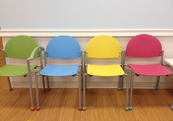 The Bola chair is a colorful office chair for your pediatric