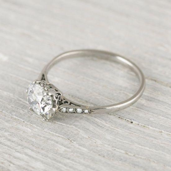 Vintage engagement ring  cut vintage engagement ring | ring | Pinterest | Verlobungsring ...