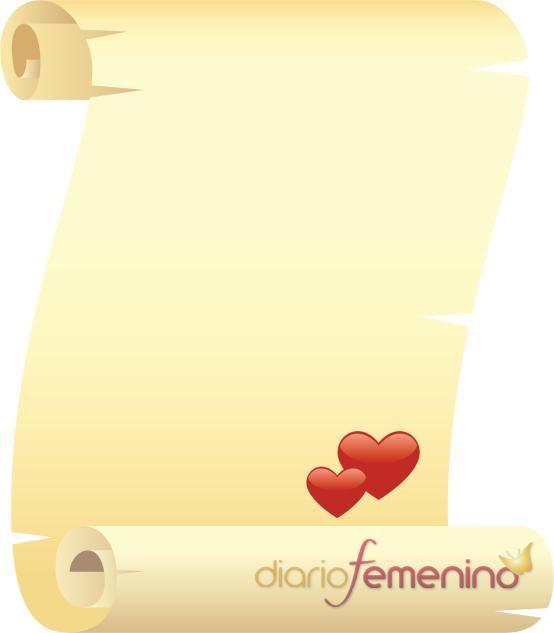 Carta de amor estilo pergamino | Cartas de amor, Pergamino y Formato ...