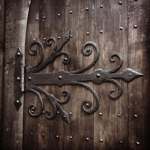 Medieval Style Door Hinges Blacksmith Medieval Gothic