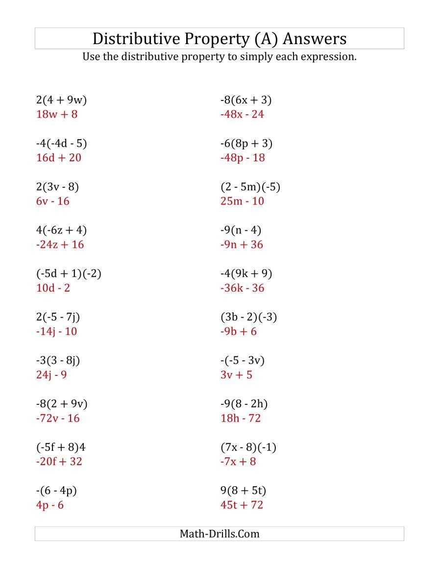 Distributive Property Worksheet 6th Grade Algebra Worksheets Exponent Worksheets Distributive Property [ 1165 x 900 Pixel ]