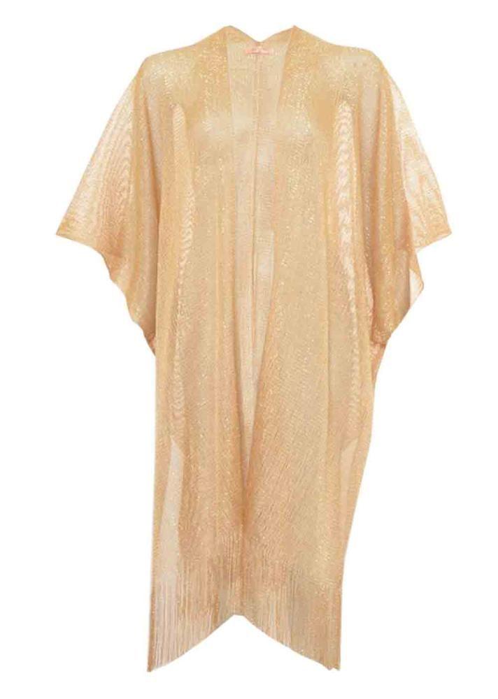 Metallic Long Kimono Cardigan: Gold - £15.00 - Metallic Long ...