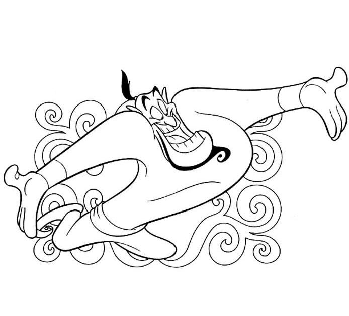 coloriage aladdin genie | coloring pages | Pinterest