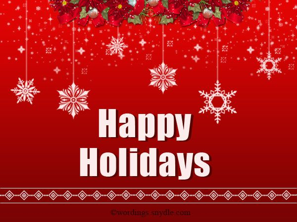 Happy Holiday Greetings Messages And Wisheshappy Holiday