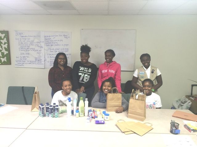 The girls of Troop #870 chose to recognize the importance of giving, helping others, and devoting time by preparing toiletry gift bags for senior citizens! What an excellent way to give back, Girl Scouts!