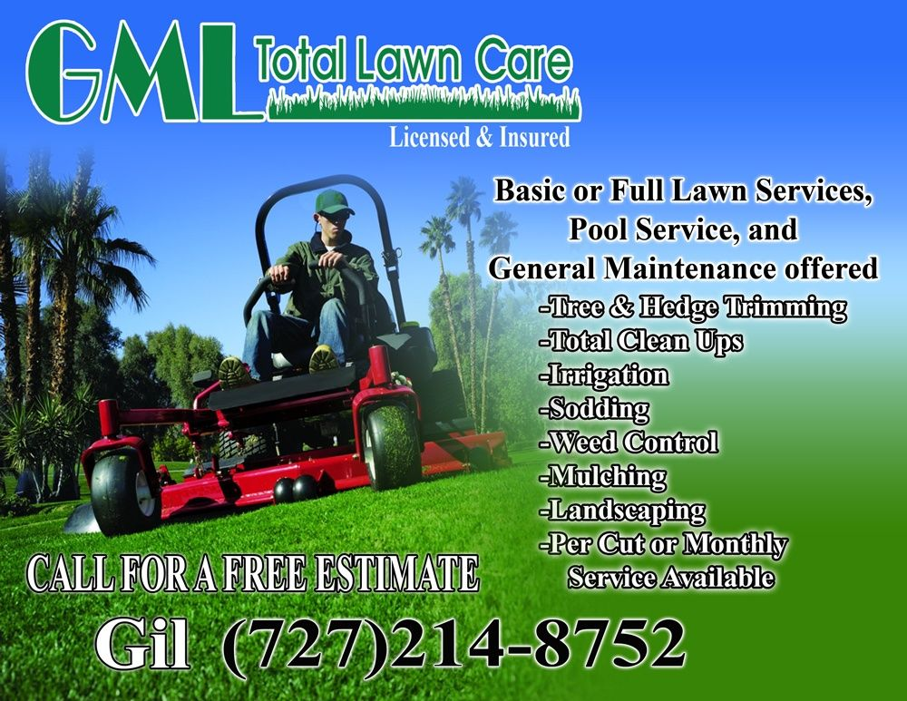 Lawn care gml total lawn care flyer lawn care for Garden maintenance flyer template