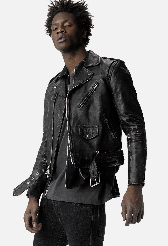 John Elliott X Blackmeans Yuji Rider S Jacket Black John Elliott Leather Jacket Men Style Riders Jacket Large Men Fashion [ 1440 x 984 Pixel ]