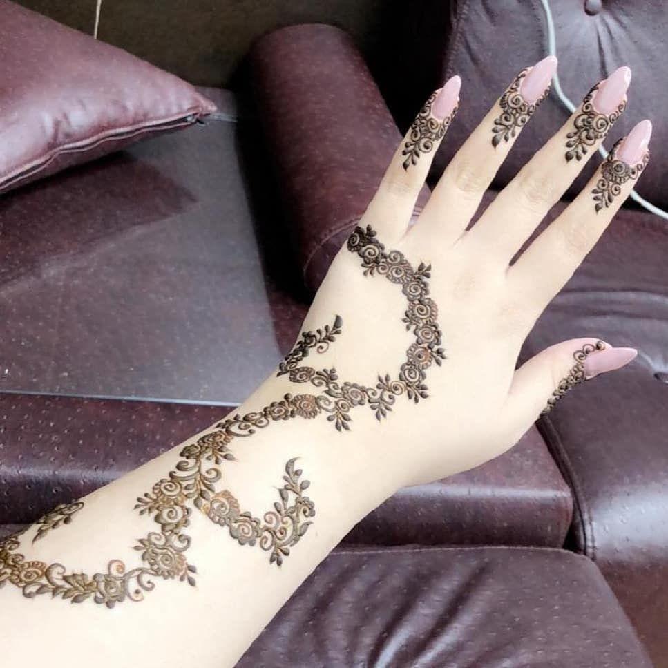 صور نقش الحناء Henna Hand Tattoo Henna Patterns Henna