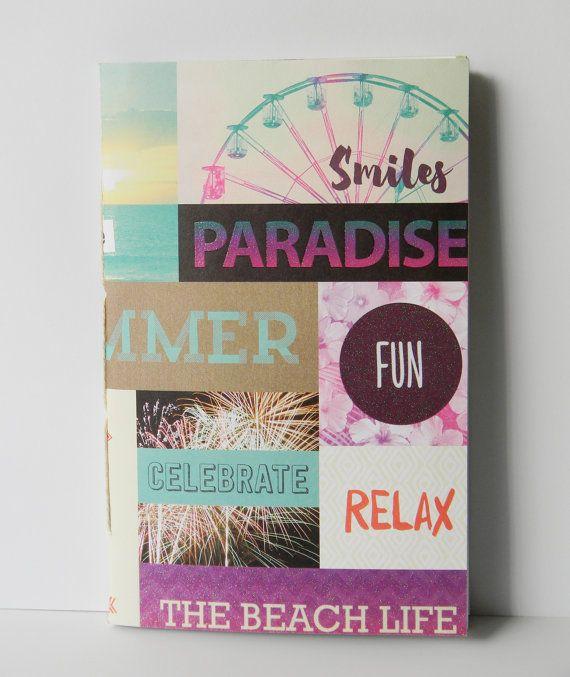 Beach Life Mosaic Print Journal Notebook by CaliClothShop on Etsy  #beachlife #sunset #californiabeach #santamonicapier #printedjournal #printednotebook #thehappyplanner #scrapbook  #journals