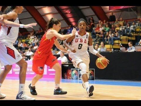 2012 Fiba U17 World Championship For Women Final Estados Unidos Espana Basketball Championship Basketball Womens Basketball