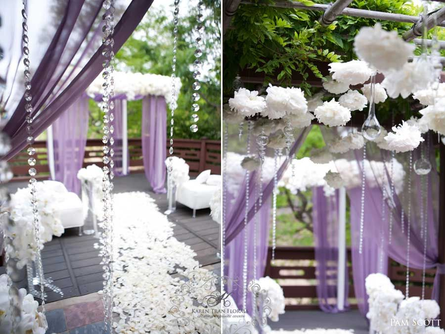 Gazebo Wedding Invitations: I Love The Hanging Crystals And The Tissue Poms. The