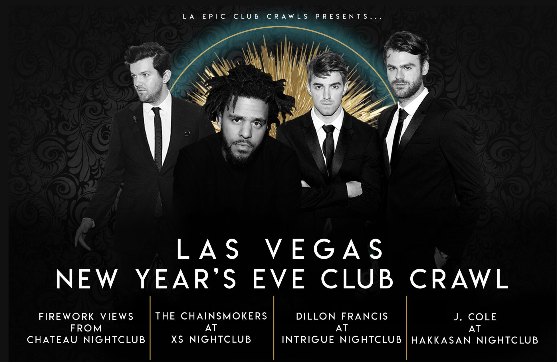 2019 Las Vegas New Years Eve Club Crawls Vegas New Years Club Crawl Las Vegas