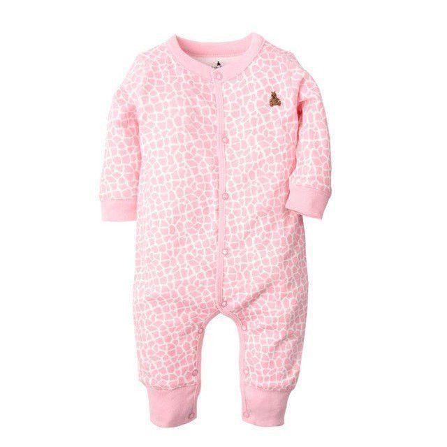 1b0000a54 Cartoon Long Sleeve Baby Girl Cotton Sleepwear