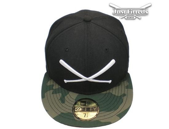 b619e46054f JustFitteds Logo Camo Black 59Fifty Fitted Baseball Cap by JUST FITTEDS x NEW  ERA