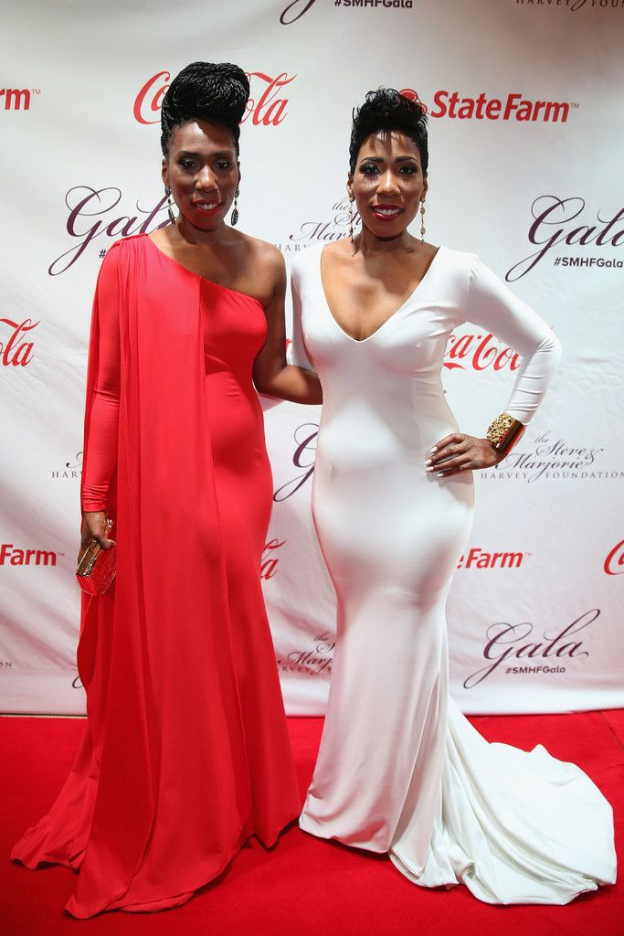 cb610da60957 Brandi and Karli Harvey attend the 2014 Steve & Marjorie Harvey Foundation  Gala presented by Coca-Cola at the Hilton Chicago on May 3, 2014 in  Chicago, ...