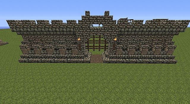 minecraft castle walls blueprints