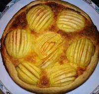 Apfelkuchen mit Vanille Pudding
