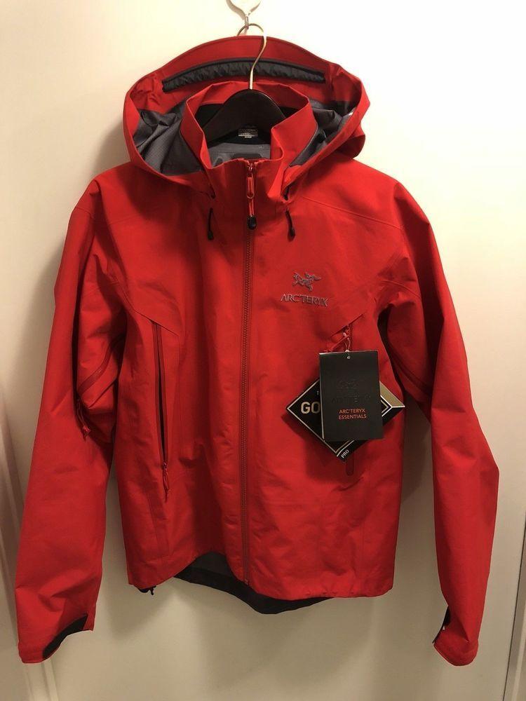 NWT Arc\u0027teryx Mens Beta AR Jacket Matador Red Gore Tex Size Medium