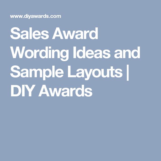 sales award wording ideas and sample layouts diy awards