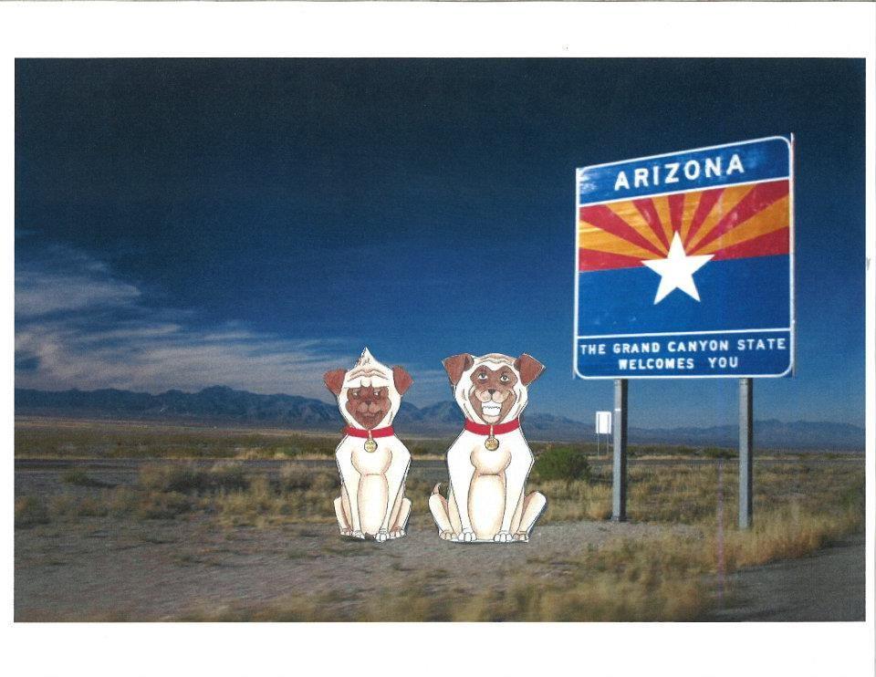 Poochie & Rascal swagger into Arizona I tell ya to