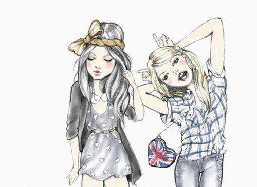 Cutesy Sketch Drawings Of Friends Best Friend Drawings Cute Art