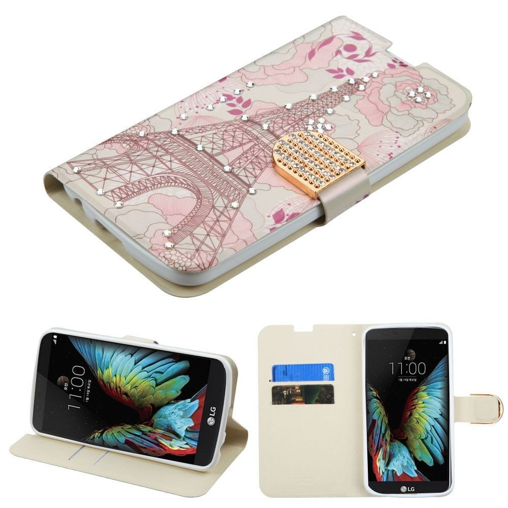 new styles 8a4ef 343b2 MYBAT Diamante Wallet LG K10 / Premier LTE Case - Eiffel Tower in ...