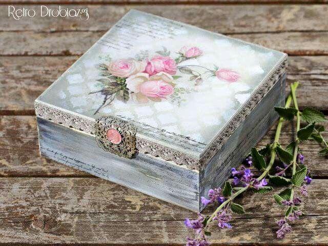 Decorate box & Pin by Iveta Vojteková on decoupage | Pinterest | Decoupage ...