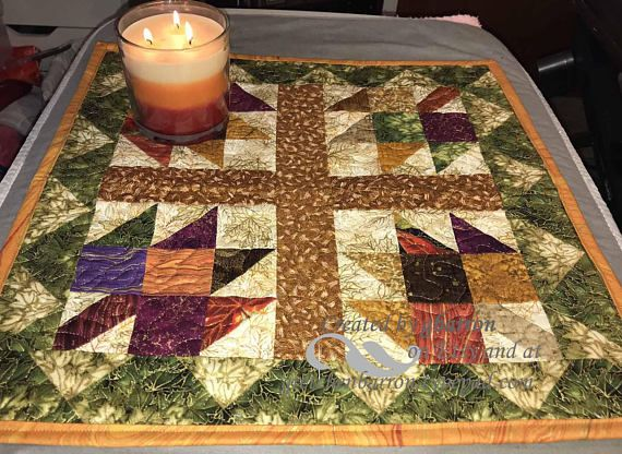 Fall Wallhanging or Table Centerpiece  Patchwork Maple Leaf