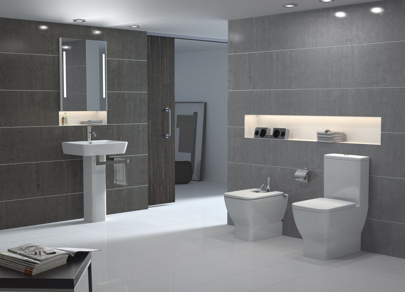 Office Bathrooms Modern Closet Style Bathroom Decorating